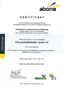 Certificaat CO2 prestatieladder Niveau 5