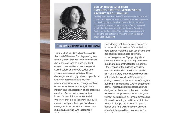 Talking Timber - Expert Column by Cecilia Gross in Architecture Magazine 1
